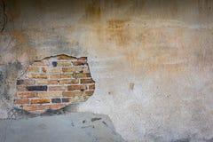Пролом на стене цемента Стоковая Фотография