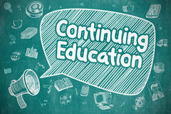 Продолжение образования - концепция дела иллюстрация вектора