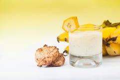 Продукты банана на белой предпосылке Стоковые Фотографии RF