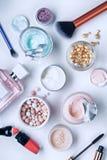 Продукты заботы косметики и тела стоковая фотография