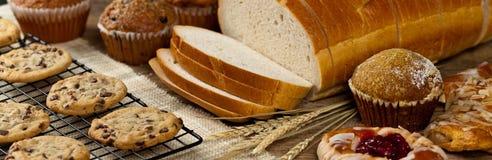 продукты изображения конструкции хлебопекарни Стоковые Фотографии RF