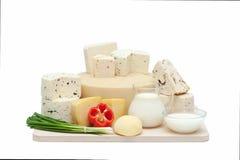 продукты изоляции молокозавода белые Стоковое Фото