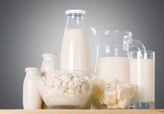 продукты изоляции молокозавода белые стоковое изображение rf