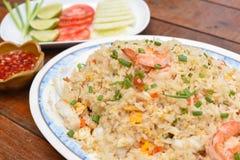 продукты моря зажаренного риса Стоковые Фото