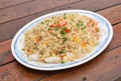 продукты моря зажаренного риса Стоковые Изображения RF