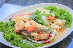 продукты моря салата пряные Стоковые Фото