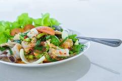 продукты моря салата пряные Стоковые Изображения RF