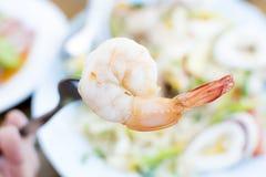 продукты моря салата пряные стоковое фото rf