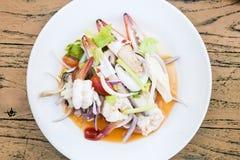 продукты моря салата пряные стоковые изображения