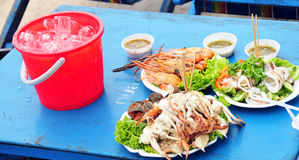 продукты моря тайские Стоковые Фото