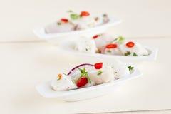 продукты моря тарелки малые Стоковая Фотография