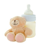 Продукты младенца на белой предпосылке Стоковые Фотографии RF