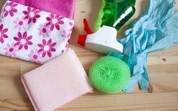 Продукты домочадца для убирать дом - фото запаса Стоковые Изображения