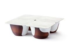 продукты пластмассы молокозавода контейнеров шоколада Стоковое Изображение RF