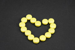 Продукты сердца фармацевтические Стоковые Фотографии RF