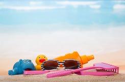 Продукты для ослаблять на пляже Стоковая Фотография RF