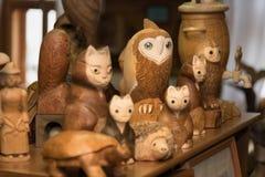 Продукт деревянного резного изображения handmade стоковые фотографии rf