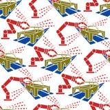 Продукция автомобиля картины абстрактного constructionism безшовная Стоковые Фотографии RF