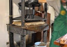 Продукция бумаги хлопка handmade Стоковые Фотографии RF