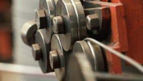Продукция продуктов провода металла видеоматериал