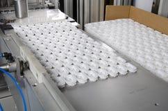 Продукция пластичной крышки коробки сока Стоковые Фото