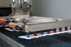 Продукция пластичной крышки коробки сока Стоковое фото RF