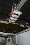 Продукция пластичной крышки коробки сока Стоковая Фотография RF