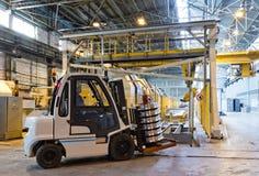 Продукция стальных колес поезда Стоковое Изображение RF