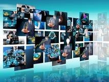 Продукция телевидения и интернета стоковые фотографии rf