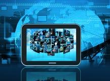 Продукция телевидения и интернета стоковое фото rf