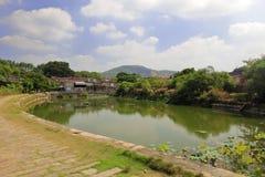 Пруд в деревне zhaojiabao, самане rgb Стоковые Фото