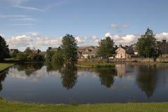 Пруд гребли на парке Colliston, Dalbeattie Стоковая Фотография