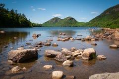 Пруд Джордана в национальном парке Мейне Acadia стоковое изображение rf