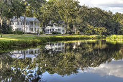 пруд домов Стоковое фото RF