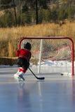 пруд хоккея Стоковая Фотография