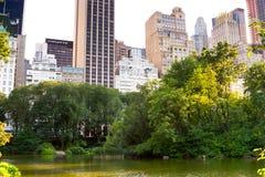 Пруд, Central Park, New York Стоковая Фотография