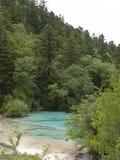 пруд huanglong фарфора красотки состязаясь Стоковое фото RF
