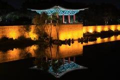 Пруд дворца и Wolji Кореи Кёнджу Donggung или пруд Anapji Стоковые Изображения RF