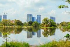 Пруд в парке города Стоковое Изображение