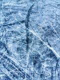 Пруд замерзает нанесенная шрам кожа Стоковая Фотография RF