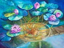 Пруд лилии воды на Giverny Monet Стоковые Фотографии RF
