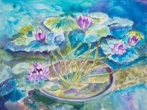 Пруд лилии воды Monet Стоковые Изображения RF