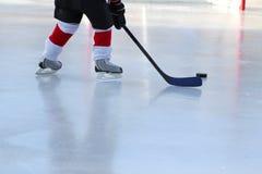 пруд хоккея Стоковые Фото
