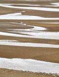Пруды на пляже Стоковые Изображения RF