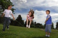 прыгать веревочки Стоковая Фотография