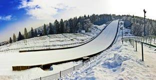 Прыжки с трамплина - стадион ` s холма в Польше Стоковые Изображения RF