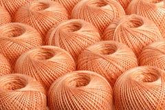 Пряжа персика предпосылки Стоковые Фото