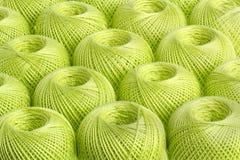 Пряжа предпосылки салатовая Стоковые Фото