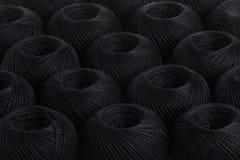 Пряжа предпосылки черная Стоковая Фотография RF