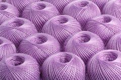 Пряжа пурпура предпосылки Стоковое фото RF